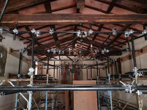Cassino / 28 agosto 2018 Messa in sicurezza della Chiesa di S. Lorenzo Martire